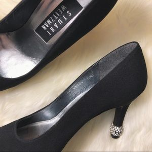 Stuart Weitzman Shoes - Stuart Weitzman | Black Pumps Rhinestones Accent
